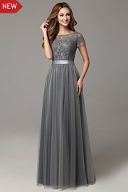 bridesmaid dresses with Short Sleeves - JW2664